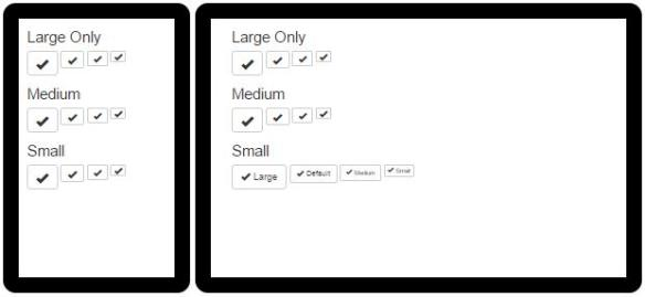 Responsive Button with Bootstrap : Toggable Text | Damien