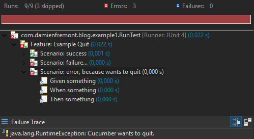 How to Cucumber Java : Wants to quit   Damien FREMONT