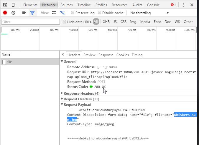 JavaEE AngularJS Bootstrap: File Upload | Damien FREMONT