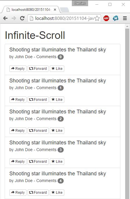 JavaEE AngularJS Bootstrap: How to Infinite-Scroll | Damien